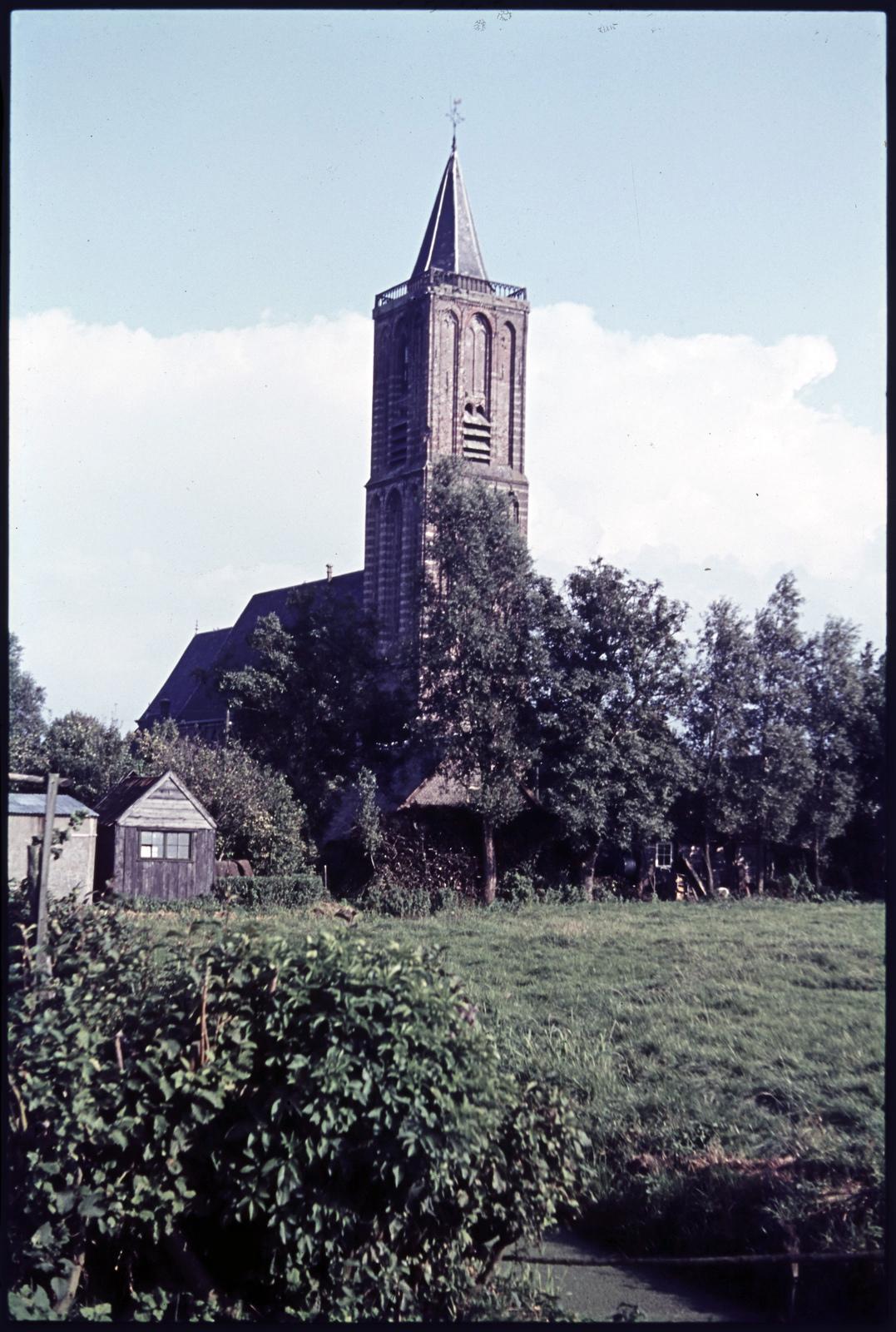 Kerk en weiland, Eemnes Buiten