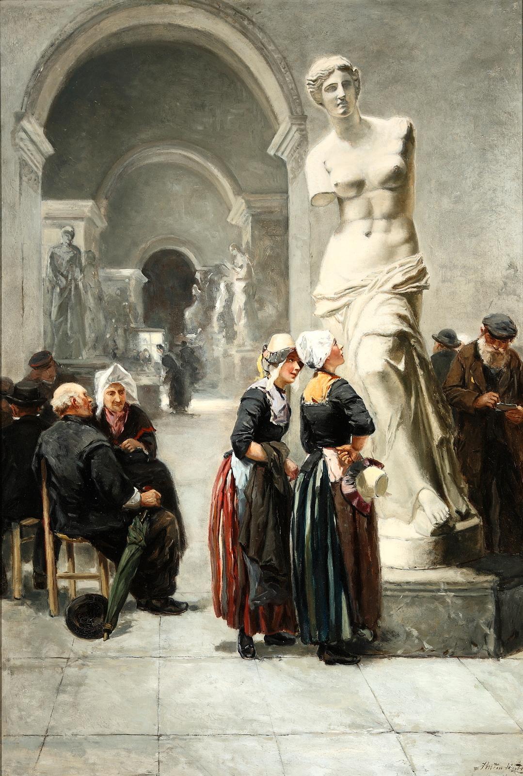 Een bezoek aan het Louvre, Parijs