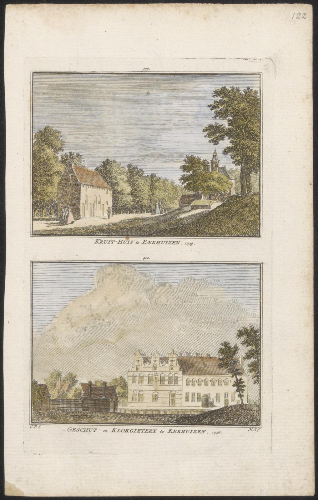 Kruithuis te Enkhuizen 1729 Geschut- en klokgietery te Enkhuizen1726