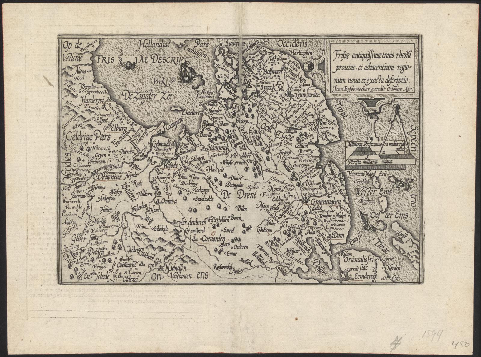 Frisiæ antiquissimæ trans rhenum prouinc. et adiacentium regio= num noua et exacta descriptio