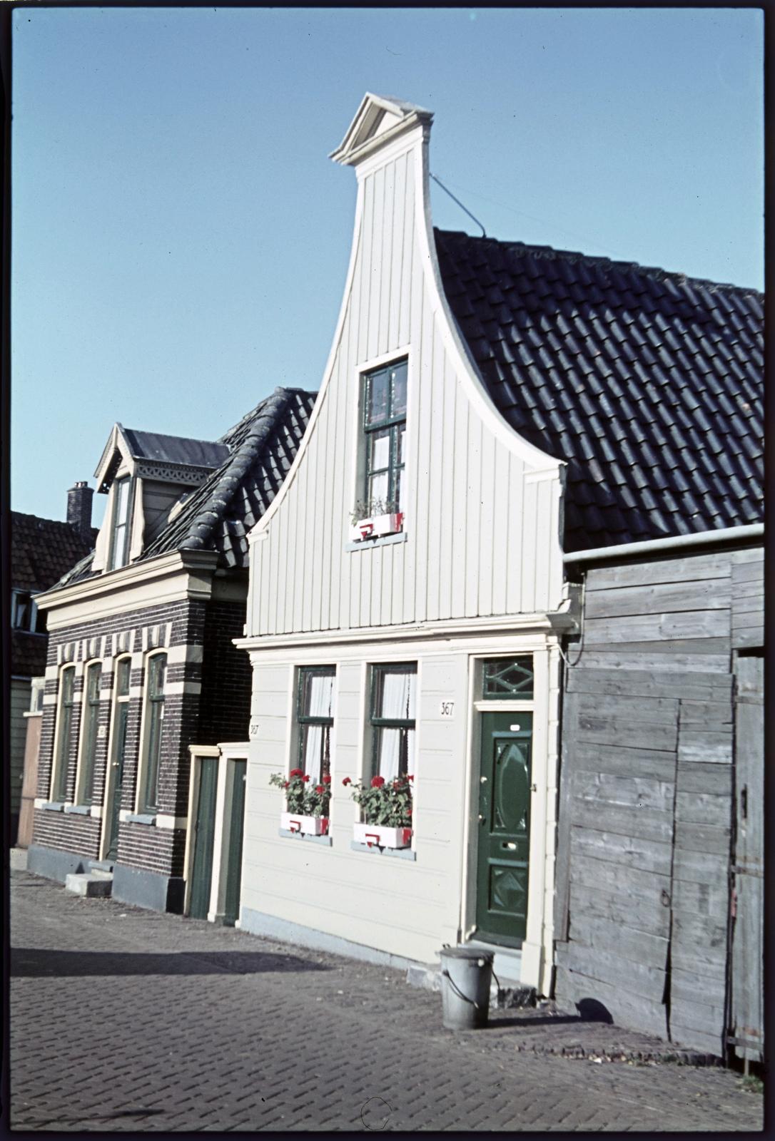 Huizen aan straat