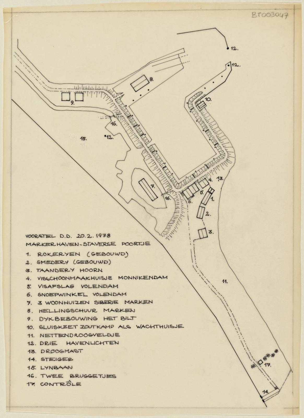 Voorstel, Markerhaven-staversepoortje d.d. 20-2-1978