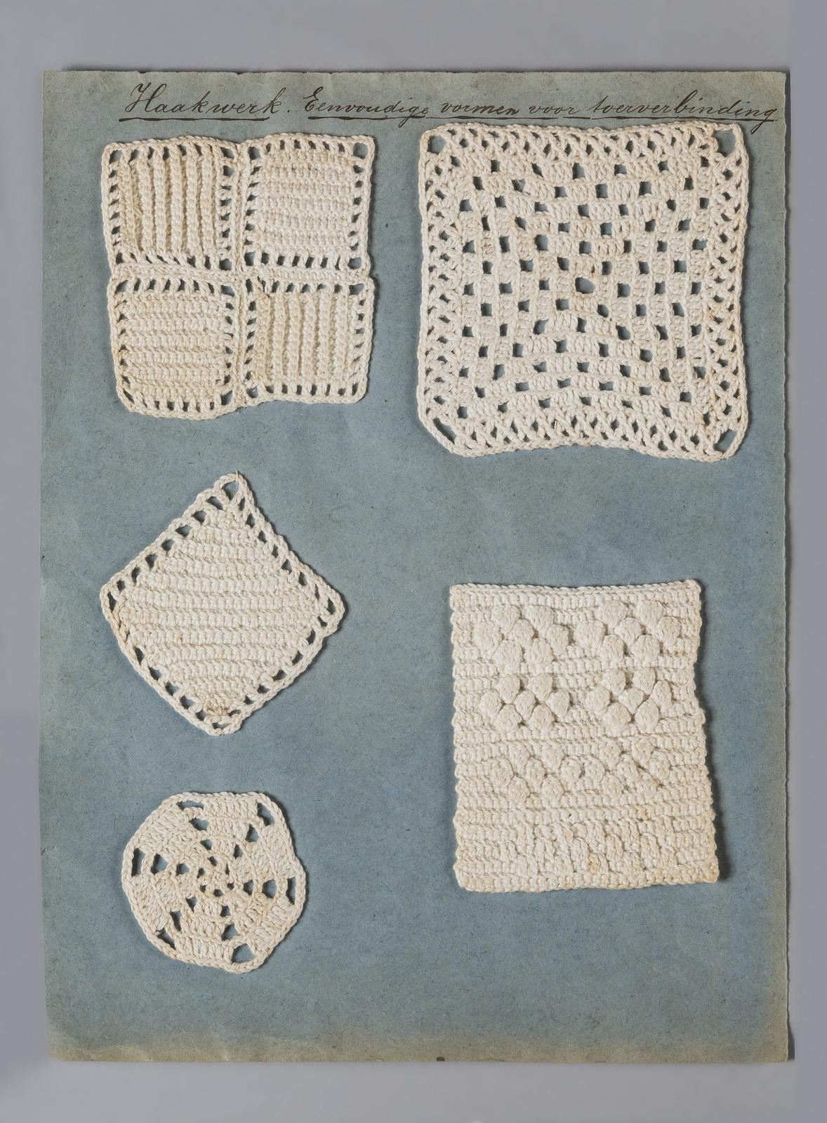 Haakwerk, vier- zes- en achthoek gemaakt door Katrina Rood