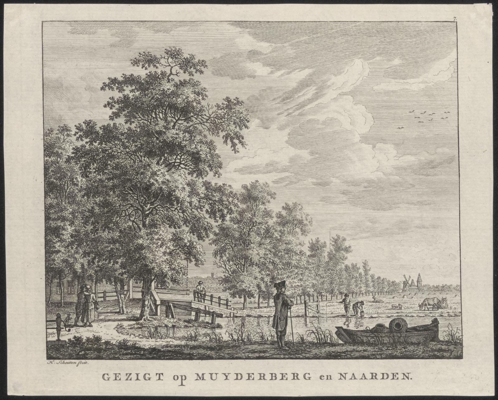 Gezigt op Muyderberg en Naarden