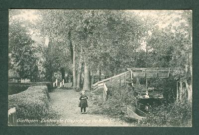 Giethoorn-Zuideinde (Gezicht op de Kerk).