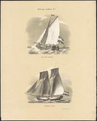 Een Vis-schuijt. Kanonneer-boot.