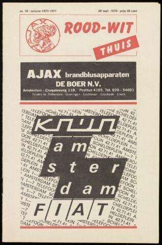 Programmaboekjes (vanaf 1934) 1970-09-30
