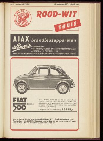 Programmaboekjes (vanaf 1934) 1967-09-10