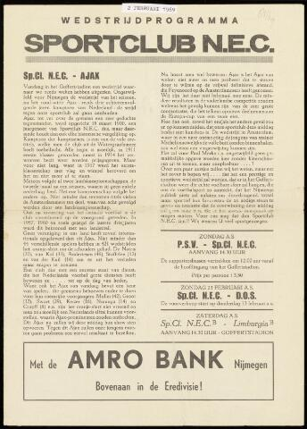 Programmaboekjes (vanaf 1934) 1969-02-02
