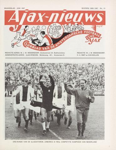 Clubnieuws Ajax (vanaf 1916) 1967-06-01
