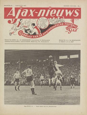 Clubnieuws Ajax (vanaf 1916) 1965-08-01