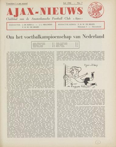 Clubnieuws Ajax (vanaf 1916) 1946-07-01