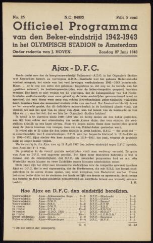 Programmaboekjes (vanaf 1934) 1943-06-27