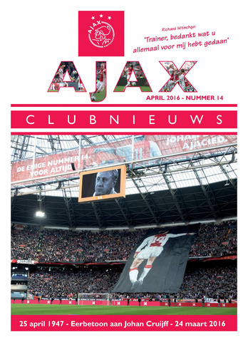 Clubnieuws Ajax (vanaf 1916) 2016-03-24