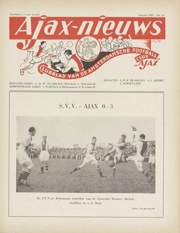 Clubnieuws Ajax (vanaf 1916) 1950-01-01