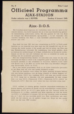 Programmaboekjes (vanaf 1934) 1942-01-04