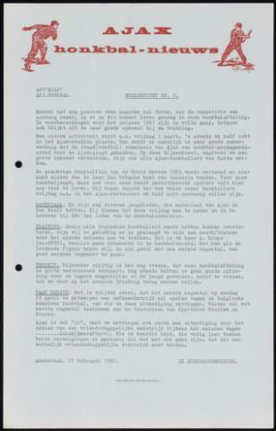 Honkbal nieuws (1963-1972) 1967-02-27