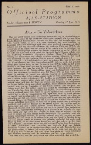 Programmaboekjes (vanaf 1934) 1945-06-17