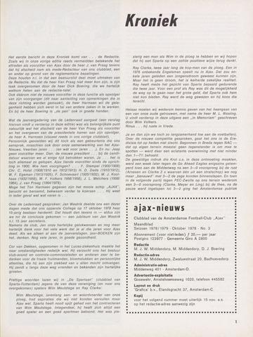 Clubnieuws Ajax (vanaf 1916) 1978-10-01