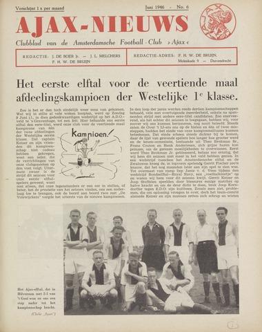 Clubnieuws Ajax (vanaf 1916) 1946-06-01