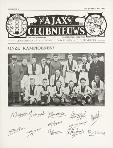 Clubnieuws Ajax (vanaf 1916) 1932-02-04