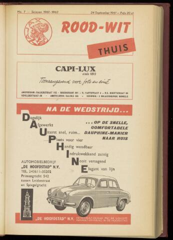 Programmaboekjes (vanaf 1934) 1961-09-24