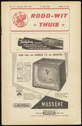 Programmaboekjes (vanaf 1934) 1958-04-27
