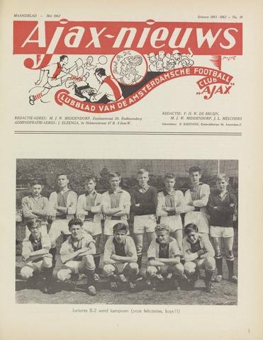 Clubnieuws Ajax (vanaf 1916) 1962-05-01