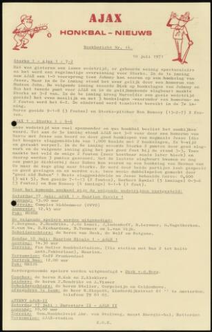 Honkbal nieuws (1963-1972) 1971-07-10