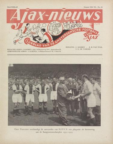Clubnieuws Ajax (vanaf 1916) 1952-06-01