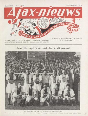 Clubnieuws Ajax (vanaf 1916) 1953-10-01