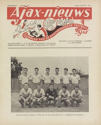 Clubnieuws Ajax (vanaf 1916) 1956-08-01