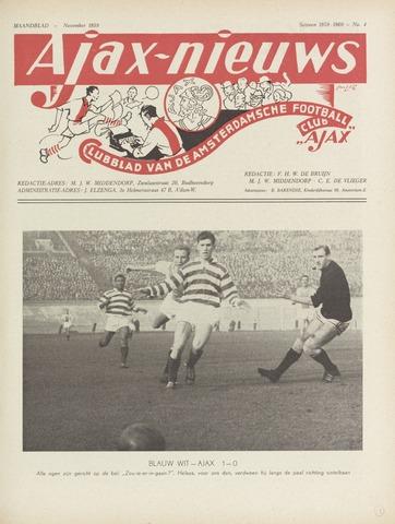 Clubnieuws Ajax (vanaf 1916) 1959-11-01
