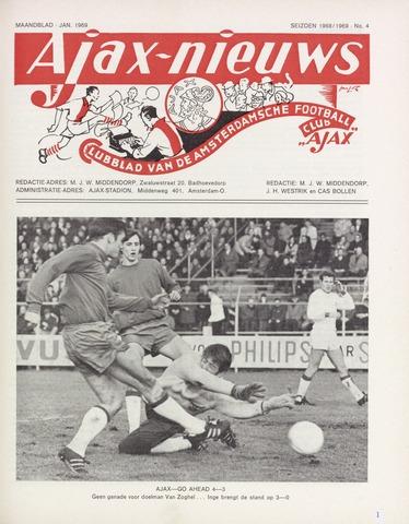 Clubnieuws Ajax (vanaf 1916) 1969-01-01