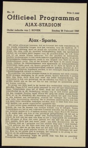 Programmaboekjes (vanaf 1934) 1943-02-28