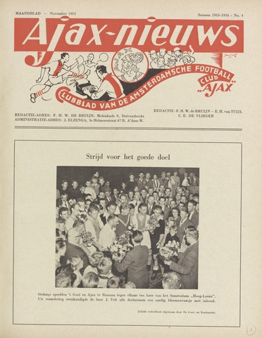 Clubnieuws Ajax (vanaf 1916) 1953-11-01