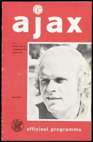 Programmaboekjes (vanaf 1934) 1974-09-01