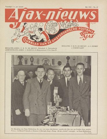 Clubnieuws Ajax (vanaf 1916) 1951-05-01