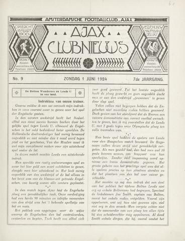 Clubnieuws Ajax (vanaf 1916) 1924-06-01