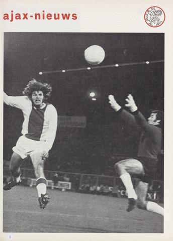 Clubnieuws Ajax (vanaf 1916) 1970-11-01