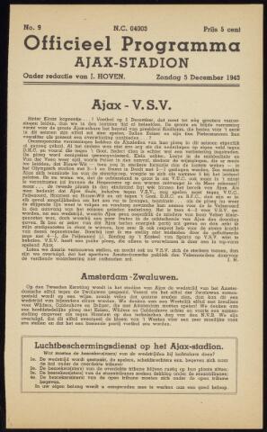 Programmaboekjes (vanaf 1934) 1943-12-05