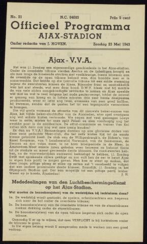 Programmaboekjes (vanaf 1934) 1943-05-23