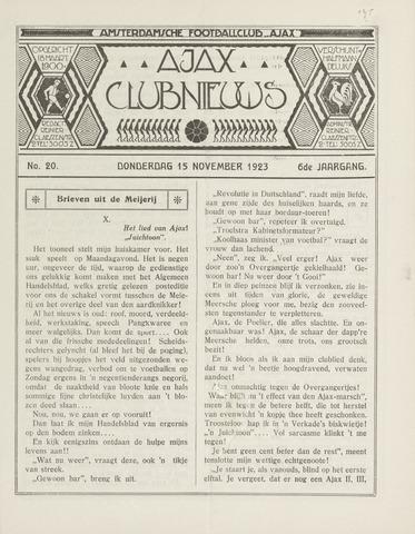 Clubnieuws Ajax (vanaf 1916) 1923-11-15