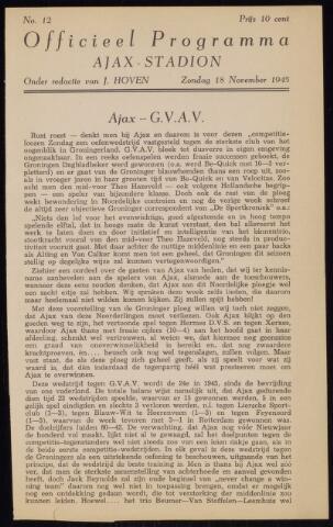 Programmaboekjes (vanaf 1934) 1945-11-18
