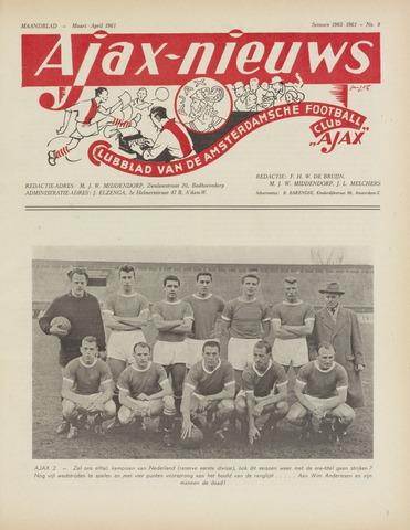 Clubnieuws Ajax (vanaf 1916) 1961-03-01