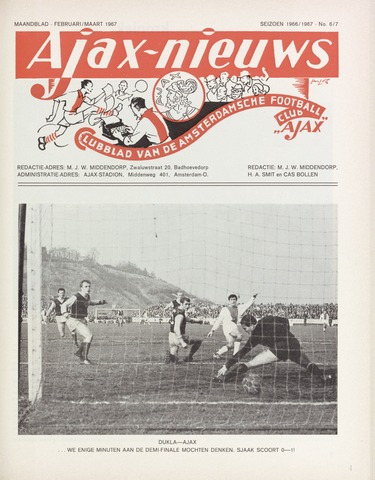 Clubnieuws Ajax (vanaf 1916) 1967-02-01