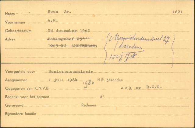 Ledenkaarten (1911-1989) 1984