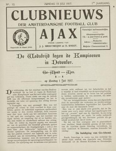 Clubnieuws Ajax (vanaf 1916) 1917-07-05