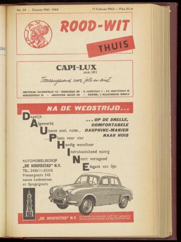 Programmaboekjes (vanaf 1934) 1962-02-11