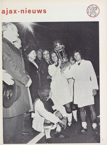 Clubnieuws Ajax (vanaf 1916) 1972-09-01